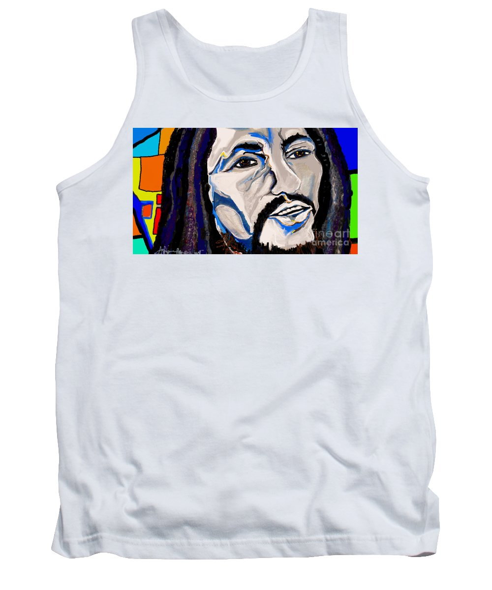 Love Tank Top featuring the painting Could You Be Loved? by Jackie Pecoroni