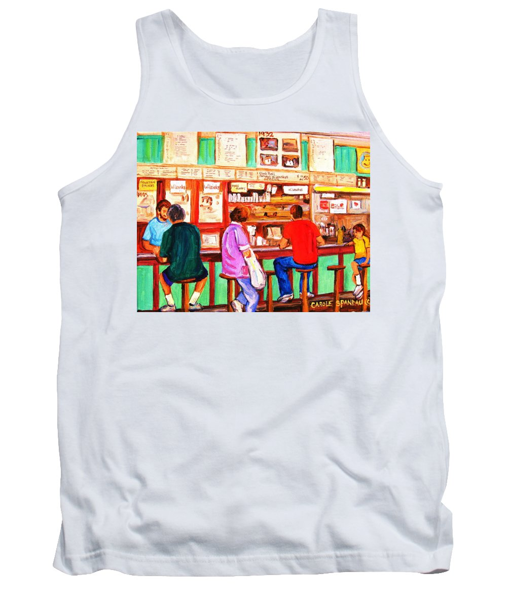 Montreal Tank Top featuring the painting Counter Culture by Carole Spandau