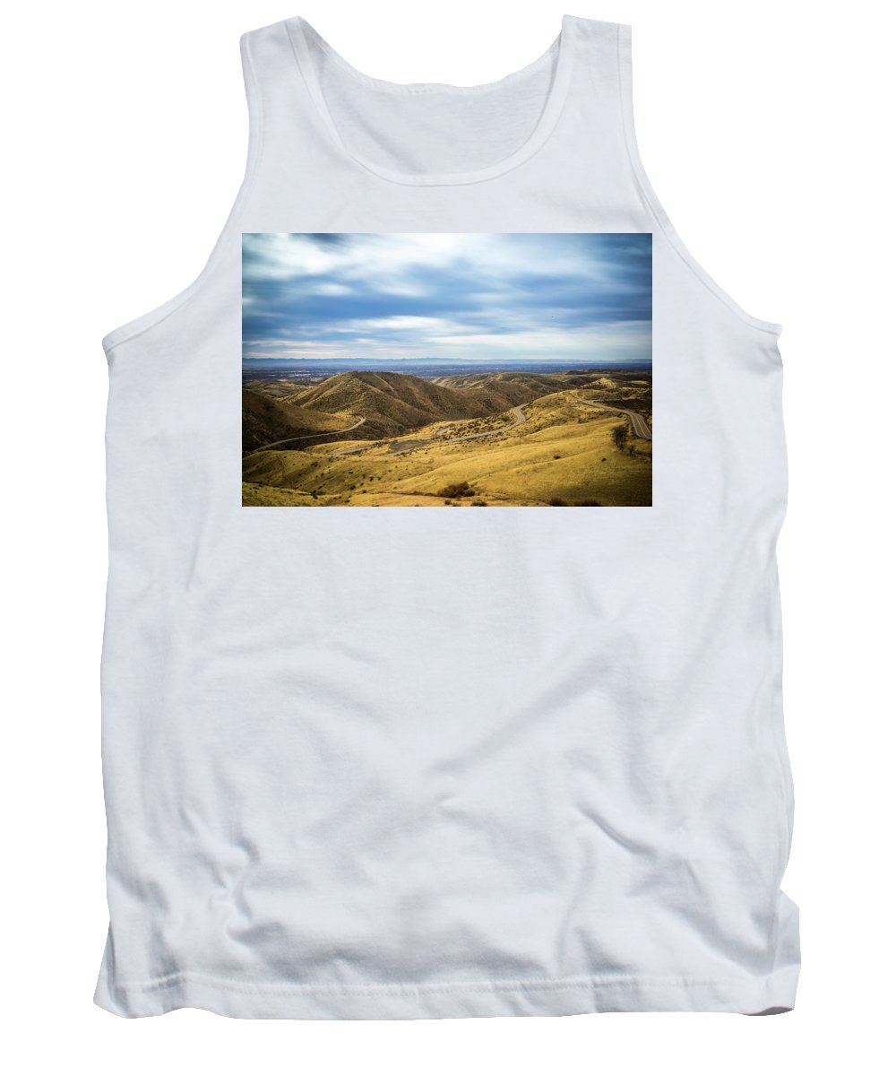 Bare Trees Tank Top featuring the photograph Country Mountain Roads No. 2 by Paul Thompson