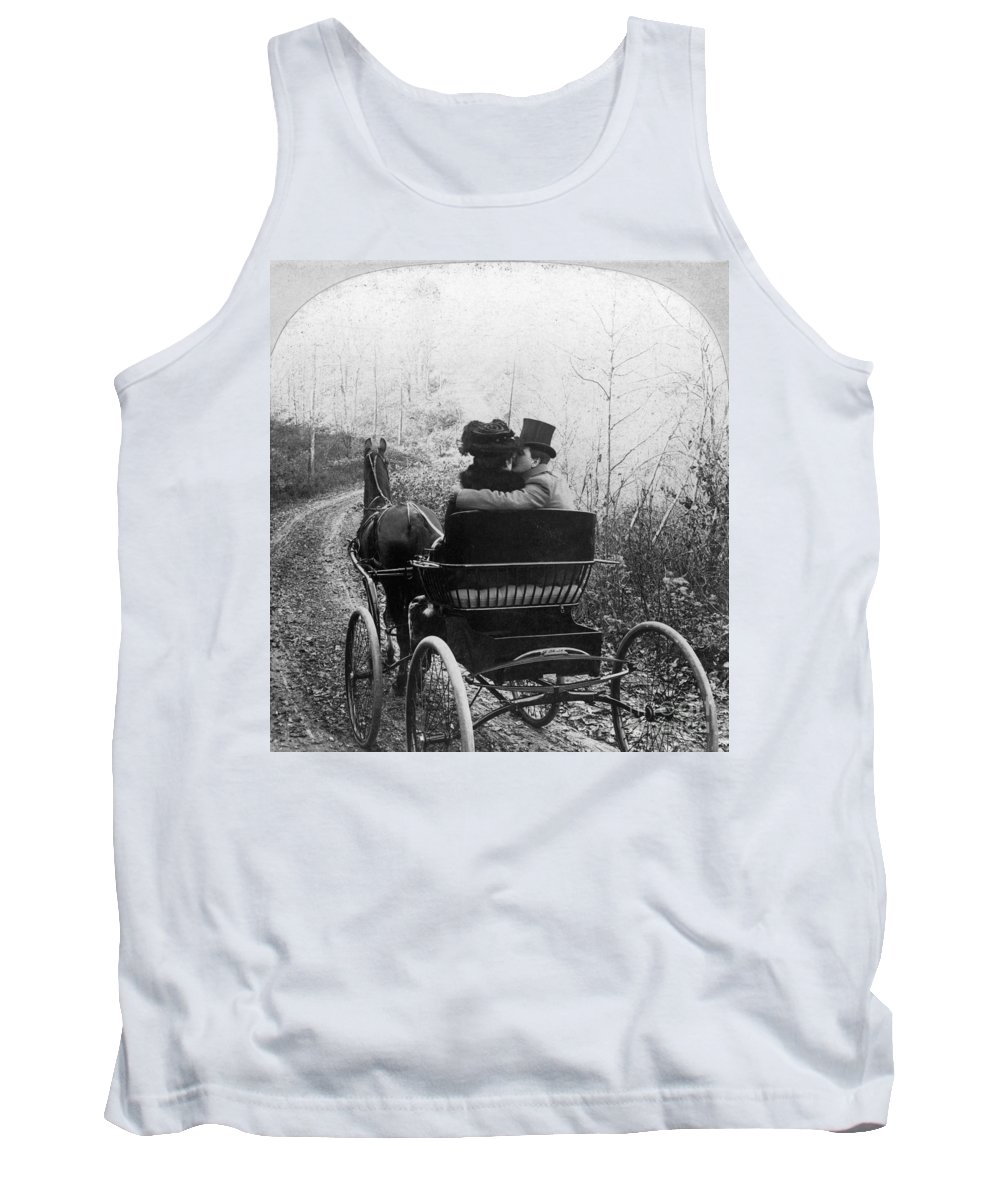 1904 Tank Top featuring the photograph Courtship/carriage Ride by Granger