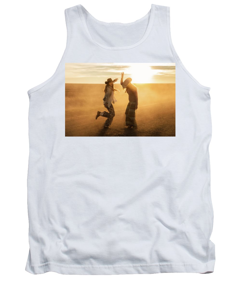 Cowgirls Tank Top featuring the photograph Cowgirl Dance by Todd Klassy
