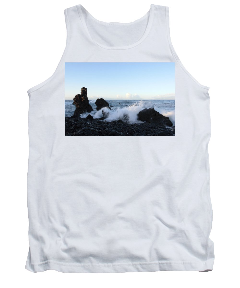 Waves Tank Top featuring the photograph Crashing Wave by Phil Crean