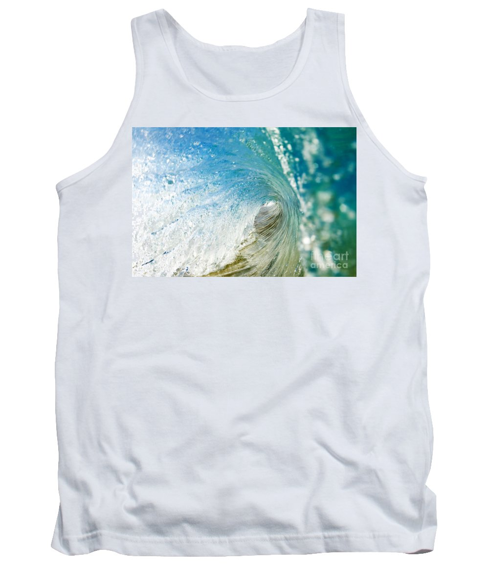 Amazing Tank Top featuring the photograph Crashing Wave Tube by MakenaStockMedia - Printscapes