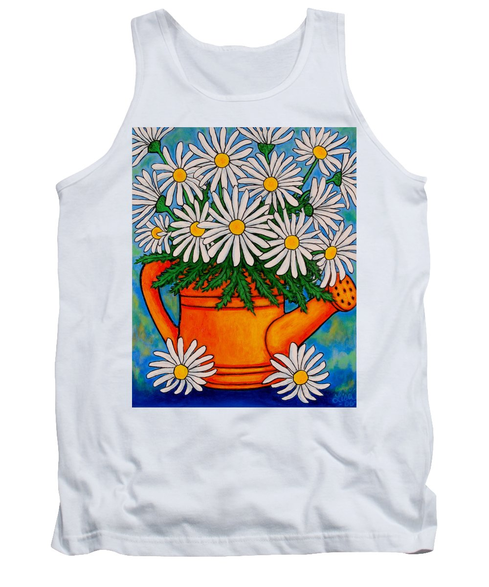 Daisies Tank Top featuring the painting Crazy For Daisies by Lisa Lorenz