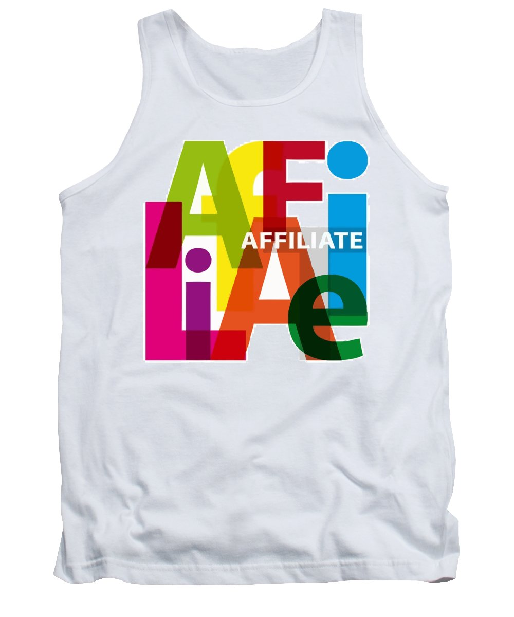 Comics Tank Top featuring the digital art Creative Title - Affilate by Don Kuing