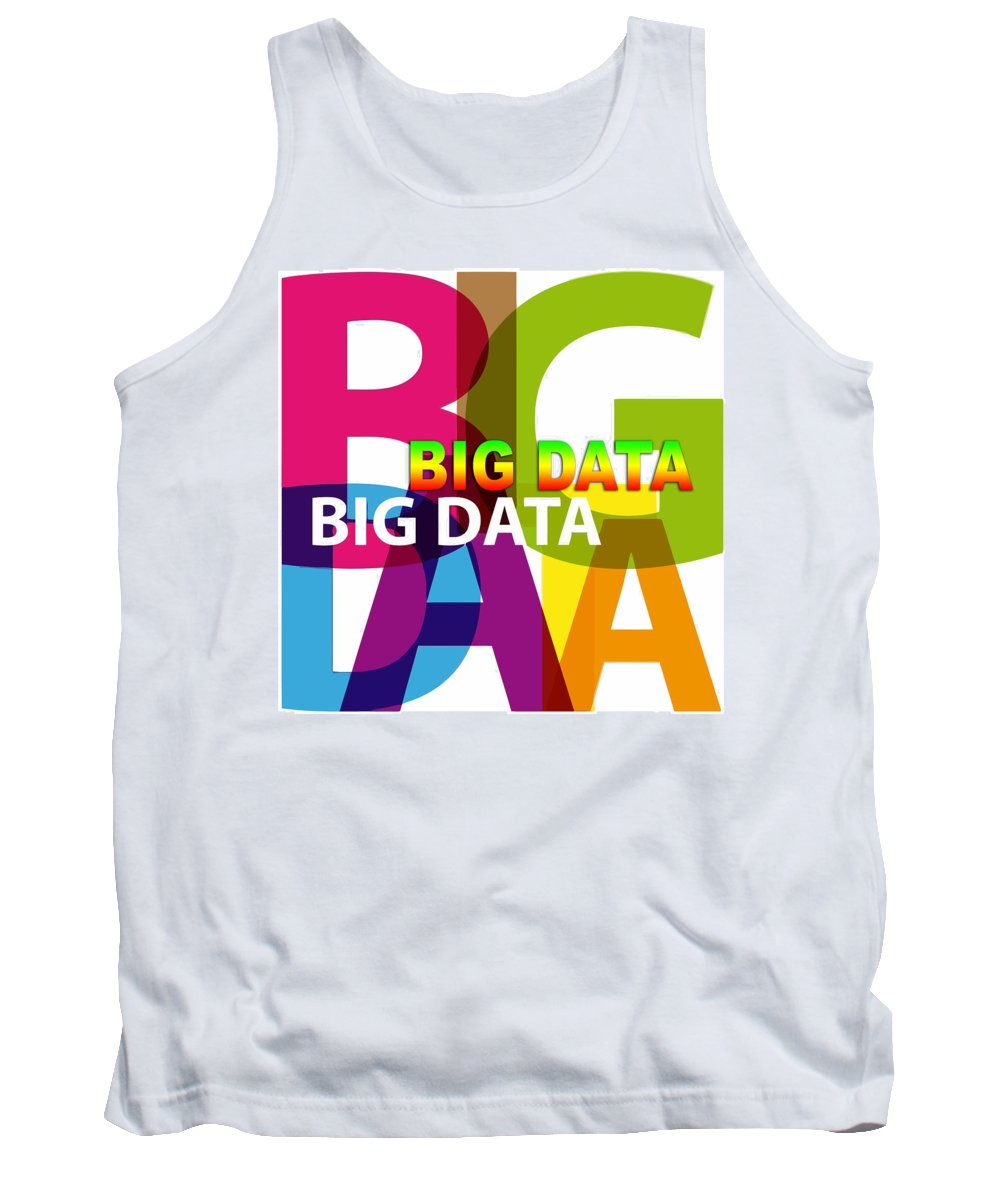 Comics Tank Top featuring the digital art Creative Title - Big Data by Don Kuing