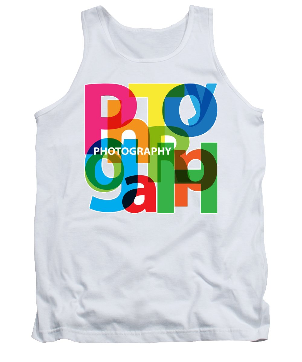 Comics Tank Top featuring the digital art Creative Title - Photography by Don Kuing