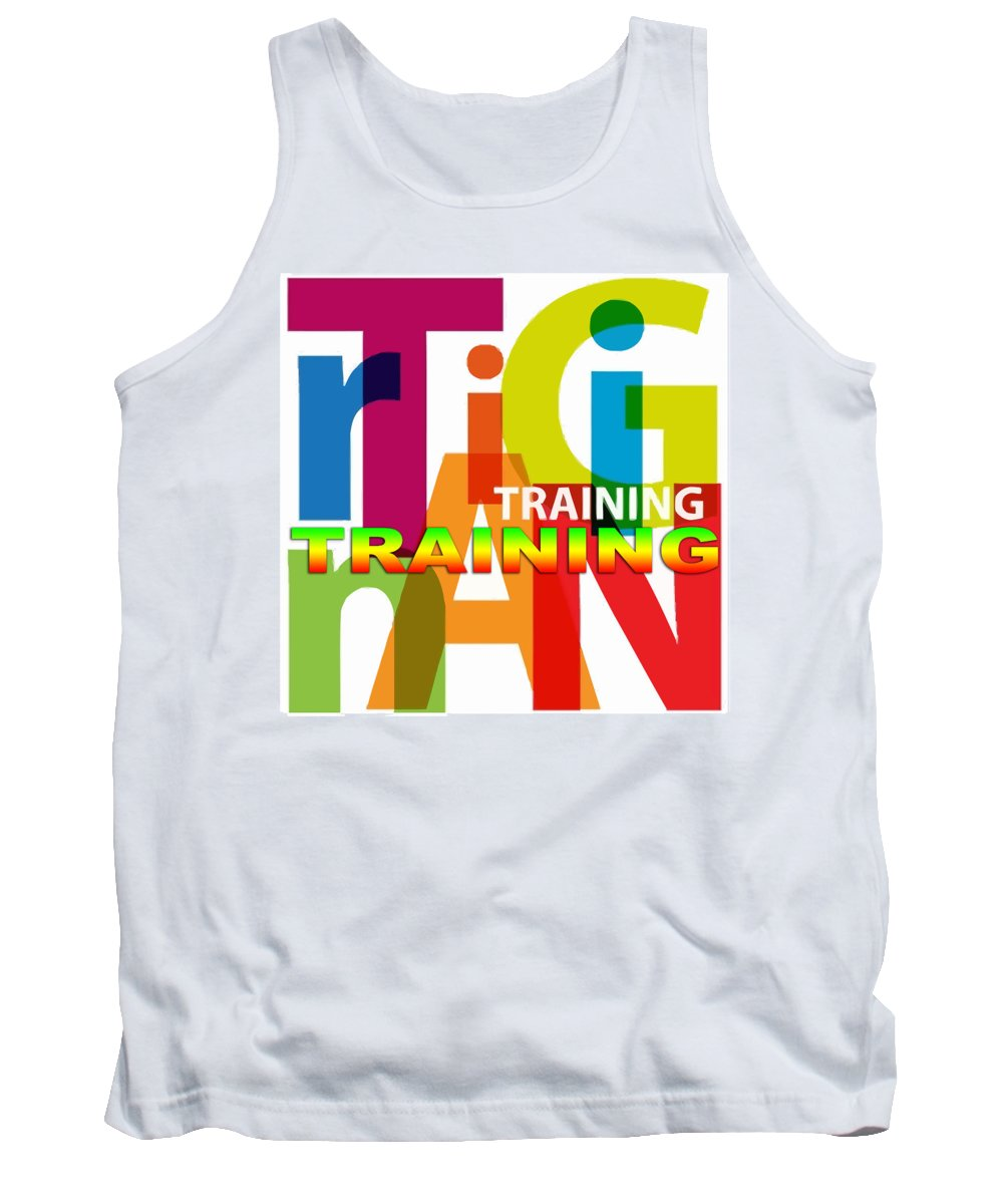 Comics Tank Top featuring the digital art Creative Title - Training by Don Kuing