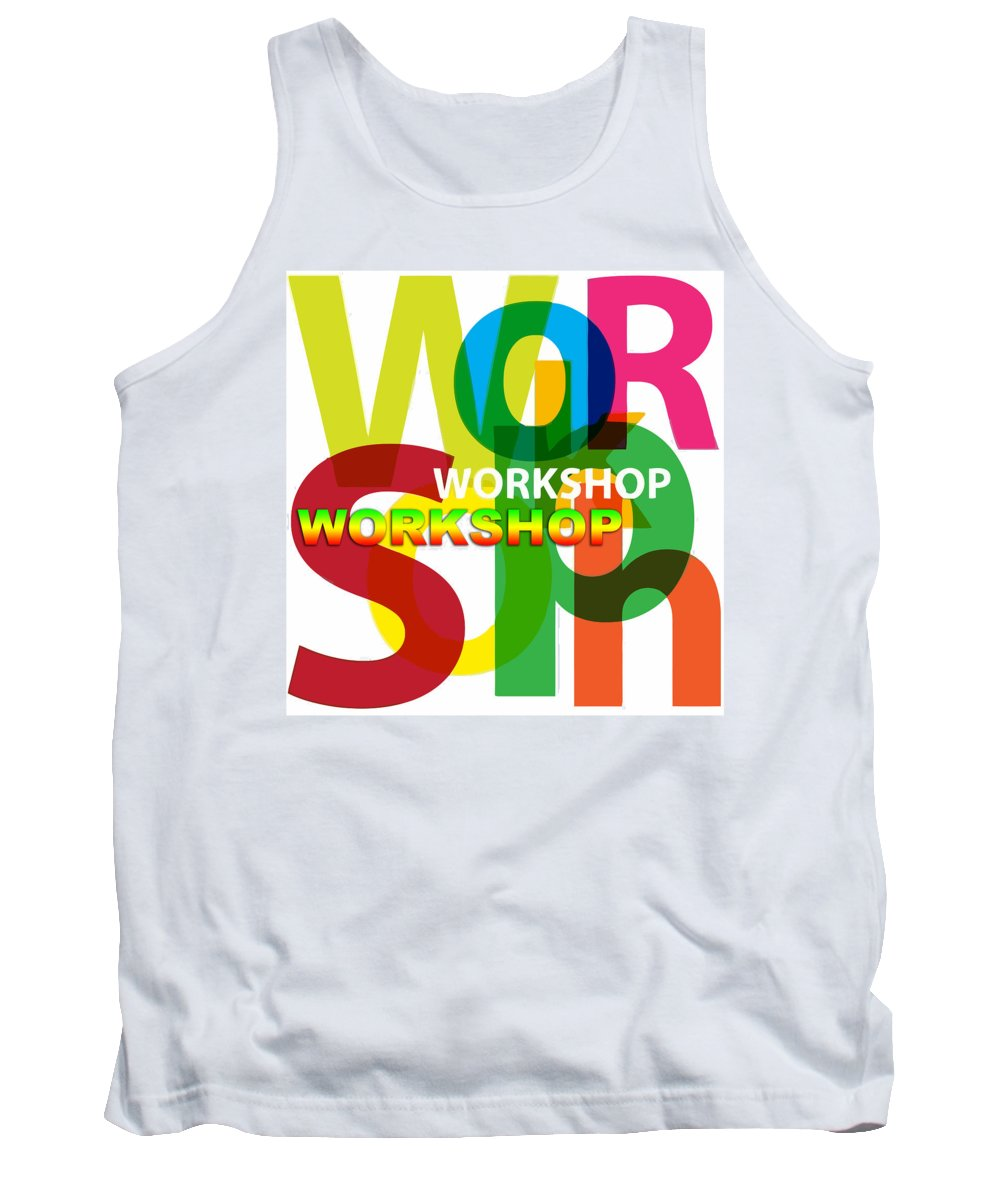Comics Tank Top featuring the digital art Creative Title - Workshop by Don Kuing