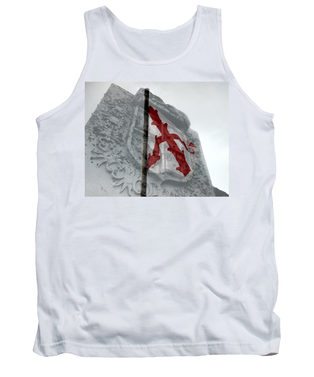 Spain Tank Top featuring the photograph Cross Of Burgundy And Spanish Crest by David Lee Thompson