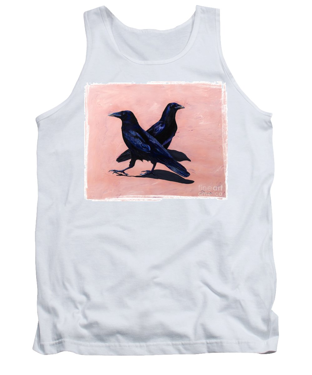 Crows Tank Top featuring the painting Crows by Sandi Baker