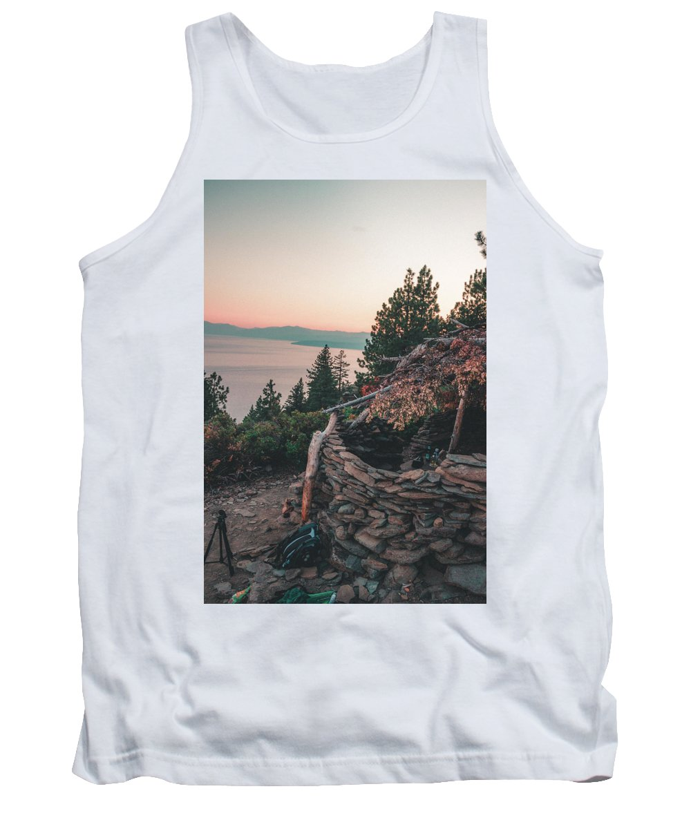 Tank Top featuring the photograph Crystal Bay Hut by Conner Koch