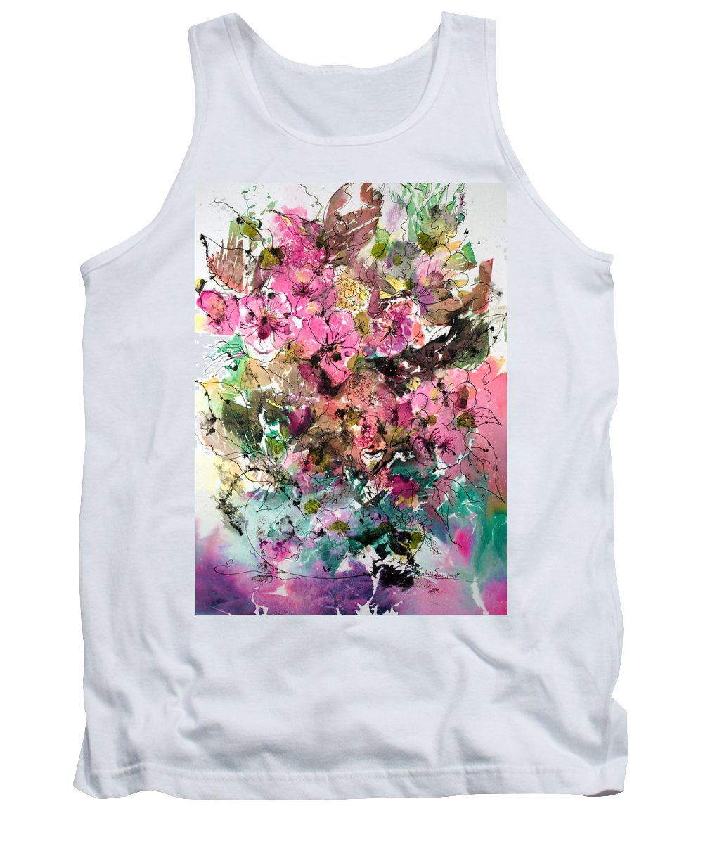 Abstract Impressionism Tank Top featuring the painting Crystal Reflections by Barbara Colangelo