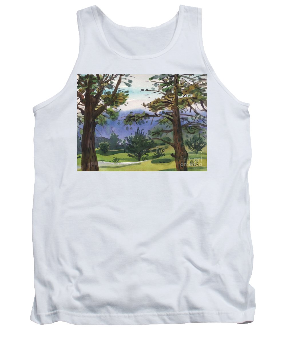 Golf Course Tank Top featuring the painting Crystal Springs Fairway by Donald Maier
