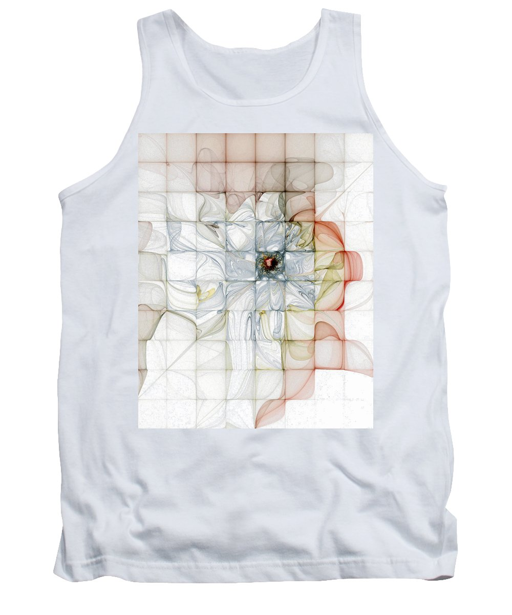 Digital Art Tank Top featuring the digital art Cubed Pastels by Amanda Moore