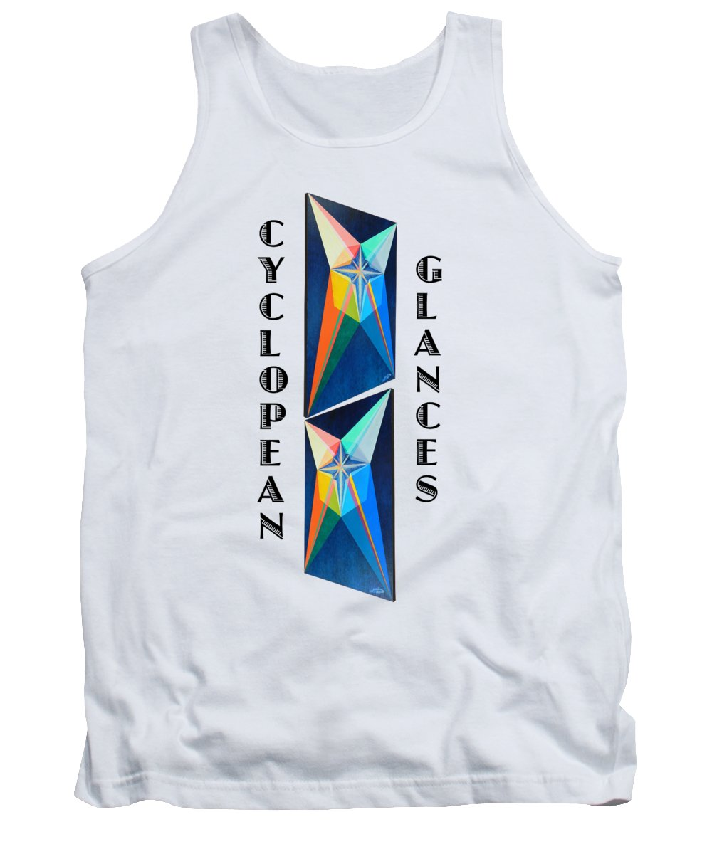 Painting Tank Top featuring the painting Cyclopean Glances Star by Michael Bellon