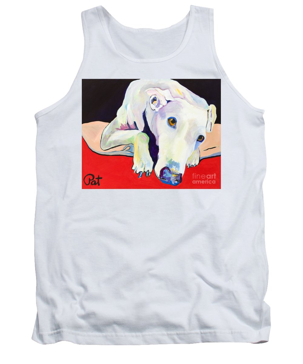 Animals Pets Greyhound Tank Top featuring the painting Cyrus by Pat Saunders-White