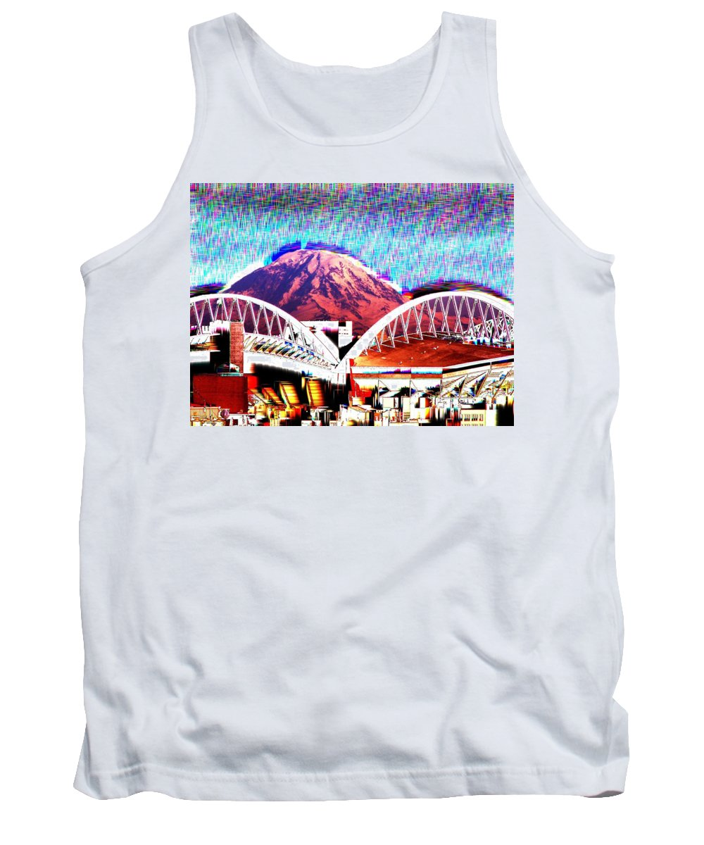 Seattle Tank Top featuring the photograph Da Mountain And Stadia 2 by Tim Allen