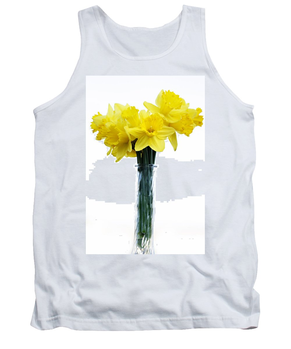 Daffodil Tank Top featuring the photograph Daffodil by Marilyn Hunt