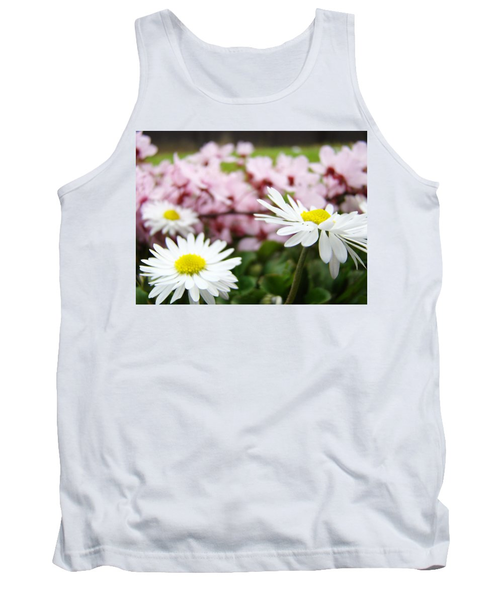 Daisies Tank Top featuring the photograph Daisies Flowers Art Prints Spring Flowers Artwork Garden Nature Art by Baslee Troutman