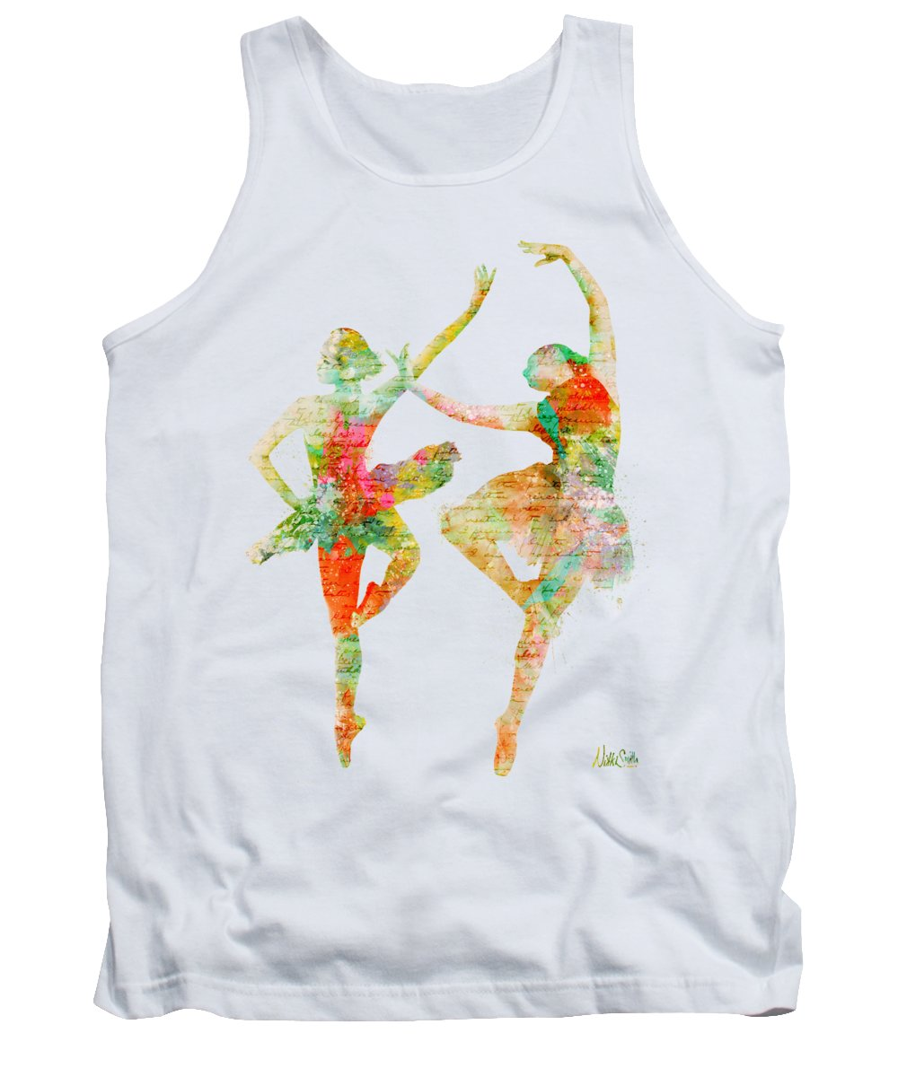 Ballet Tank Top featuring the digital art Dance With Me by Nikki Smith