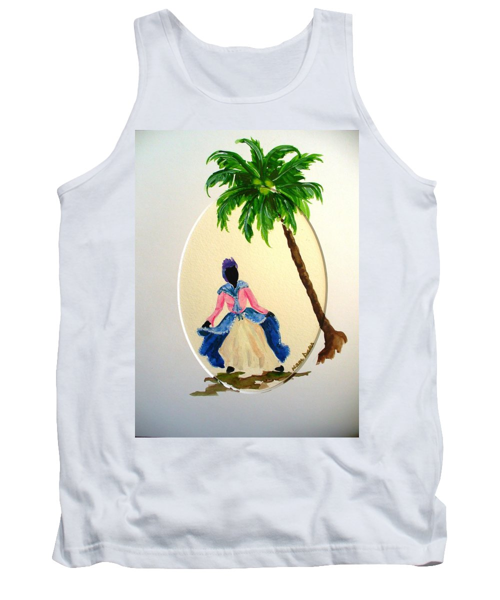 Dancer Caribbean Tank Top featuring the painting Dancer 2 by Karin Dawn Kelshall- Best