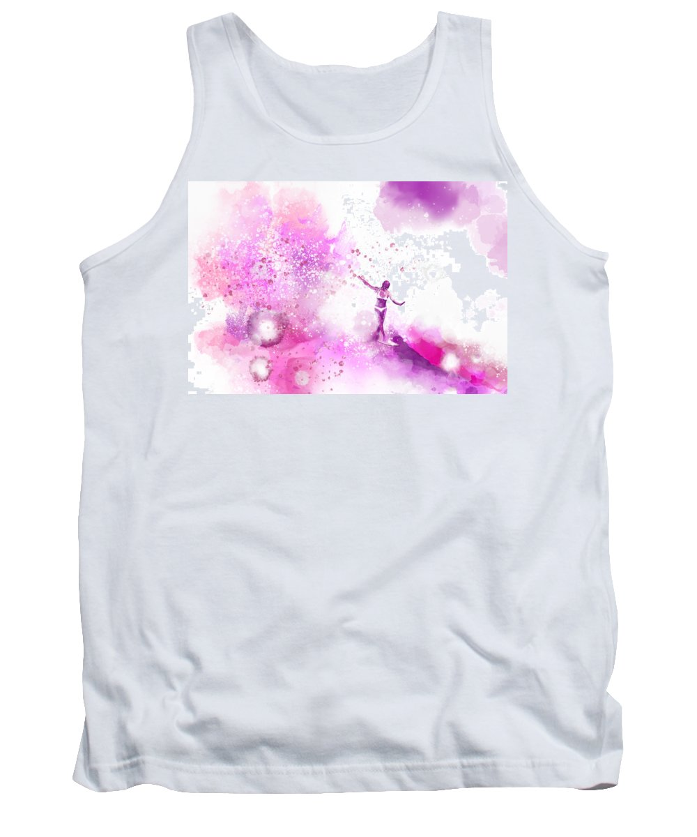 Water Tank Top featuring the painting Dancer On Water 4 by Nelson Ruger