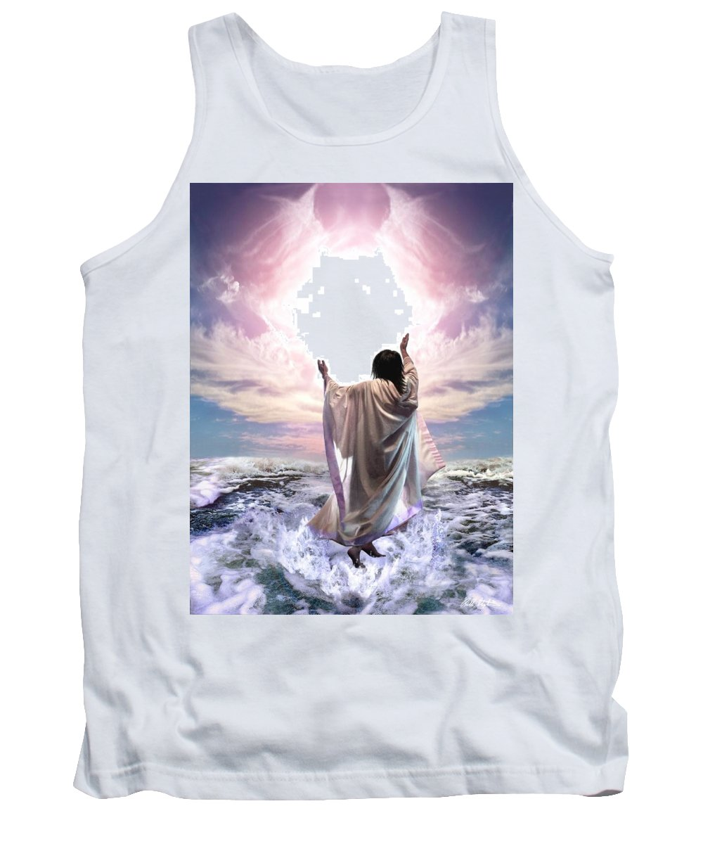 Yeshua Tank Top featuring the digital art Dancing For My Father by Bill Stephens