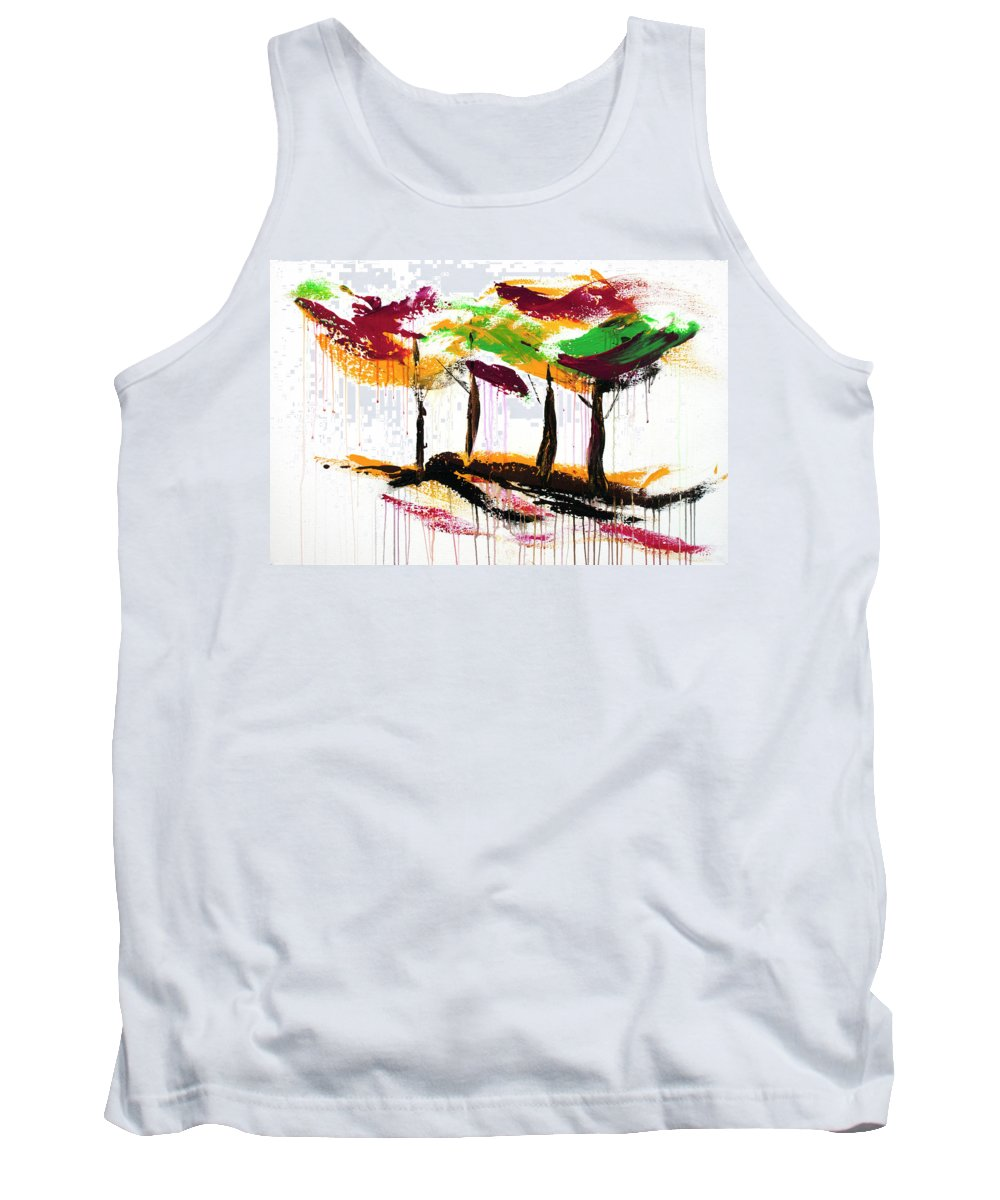 Dancing In The Rain Tank Top featuring the painting Dancing In The Rain, Vol. 1 by Nelson Ruger