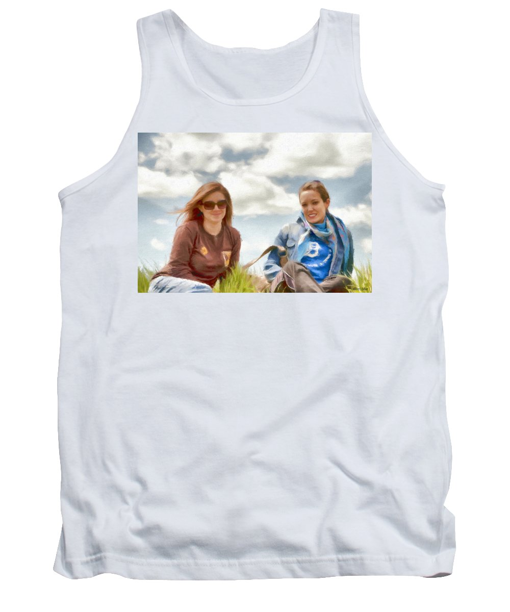 Canadian Tank Top featuring the painting Daughters by Jeffrey Kolker