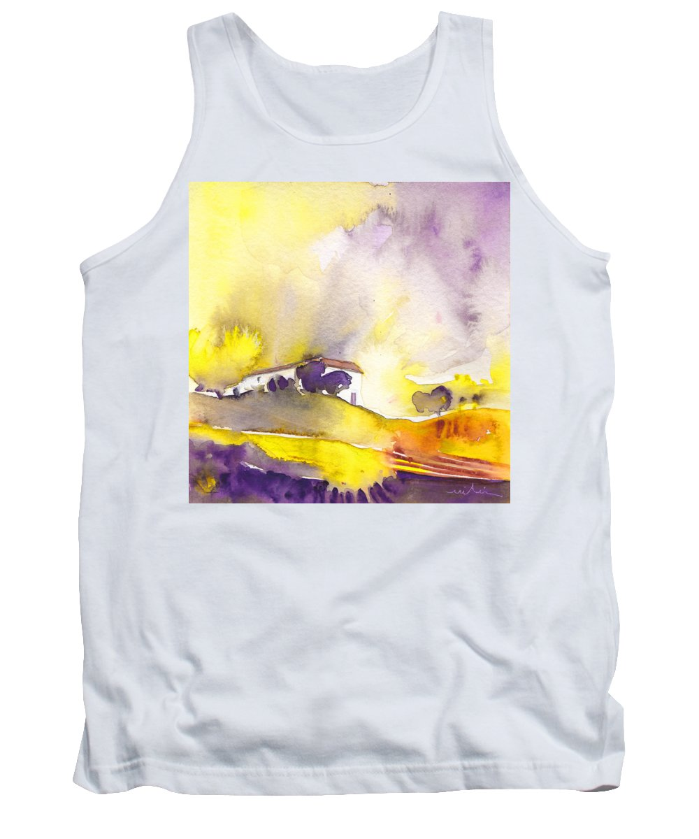 Watercolour Tank Top featuring the painting Dawn 16 by Miki De Goodaboom