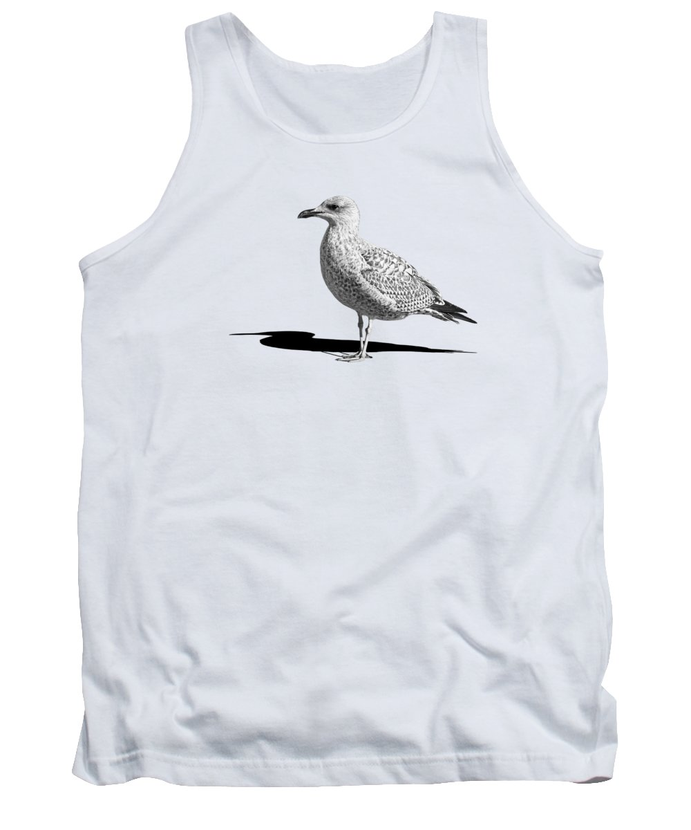 Coastal Scene Tank Top featuring the photograph Daydreaming In Black And White by Gill Billington