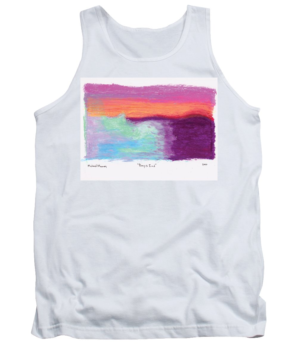 Oil Pastels Tank Top featuring the drawing Days End by Michael Mooney