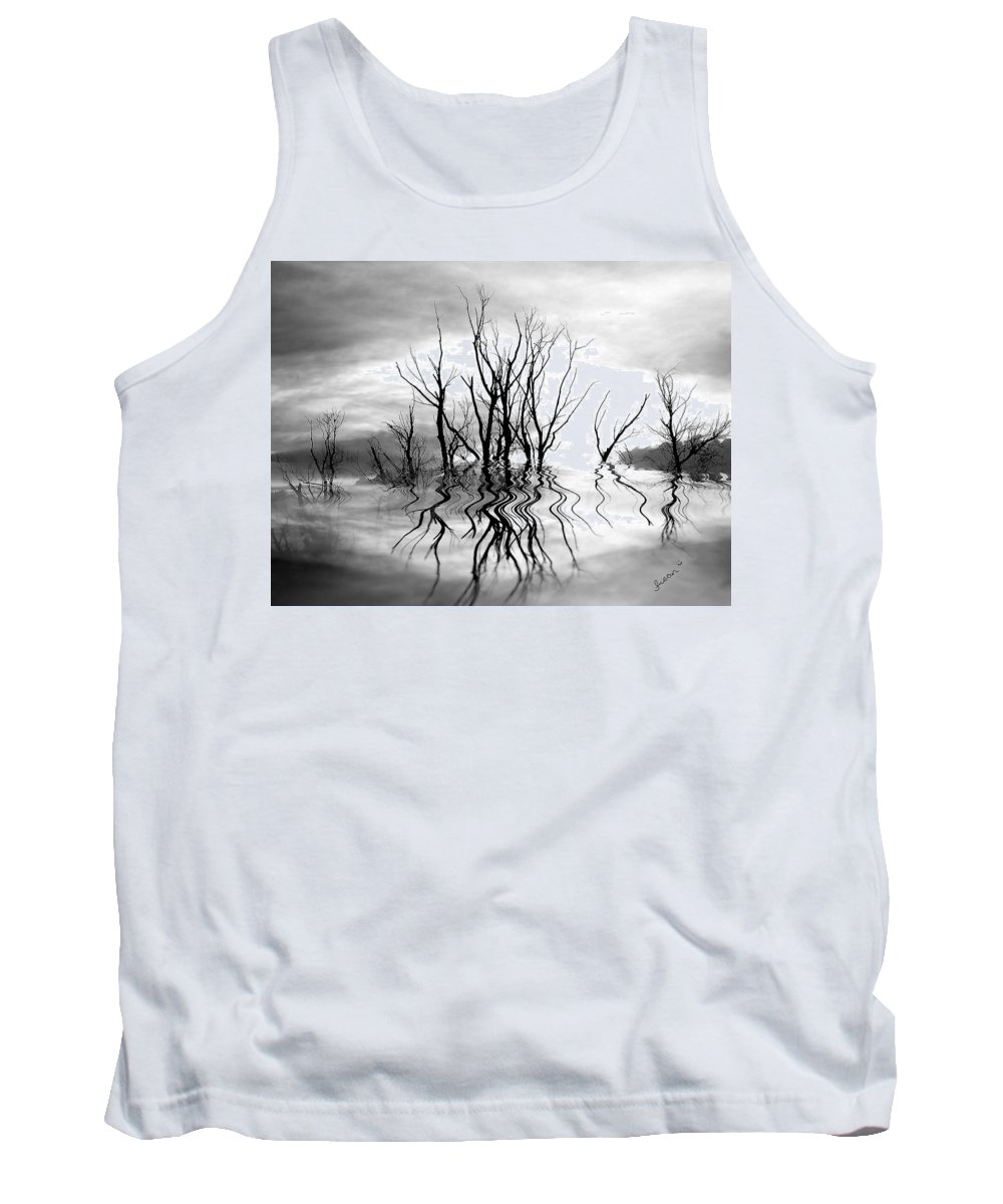 Photography Tank Top featuring the photograph Dead Trees Bw by Susan Kinney