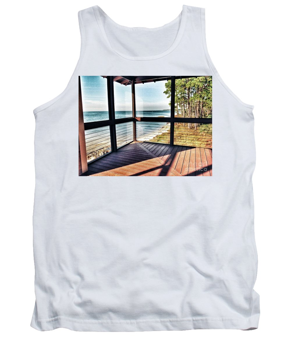Ocean View Tank Top featuring the photograph Deck With Ocean View by John Myers