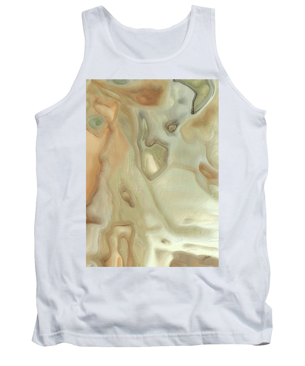 Abstract Tank Top featuring the digital art Deep Fear by Joaquin Abella