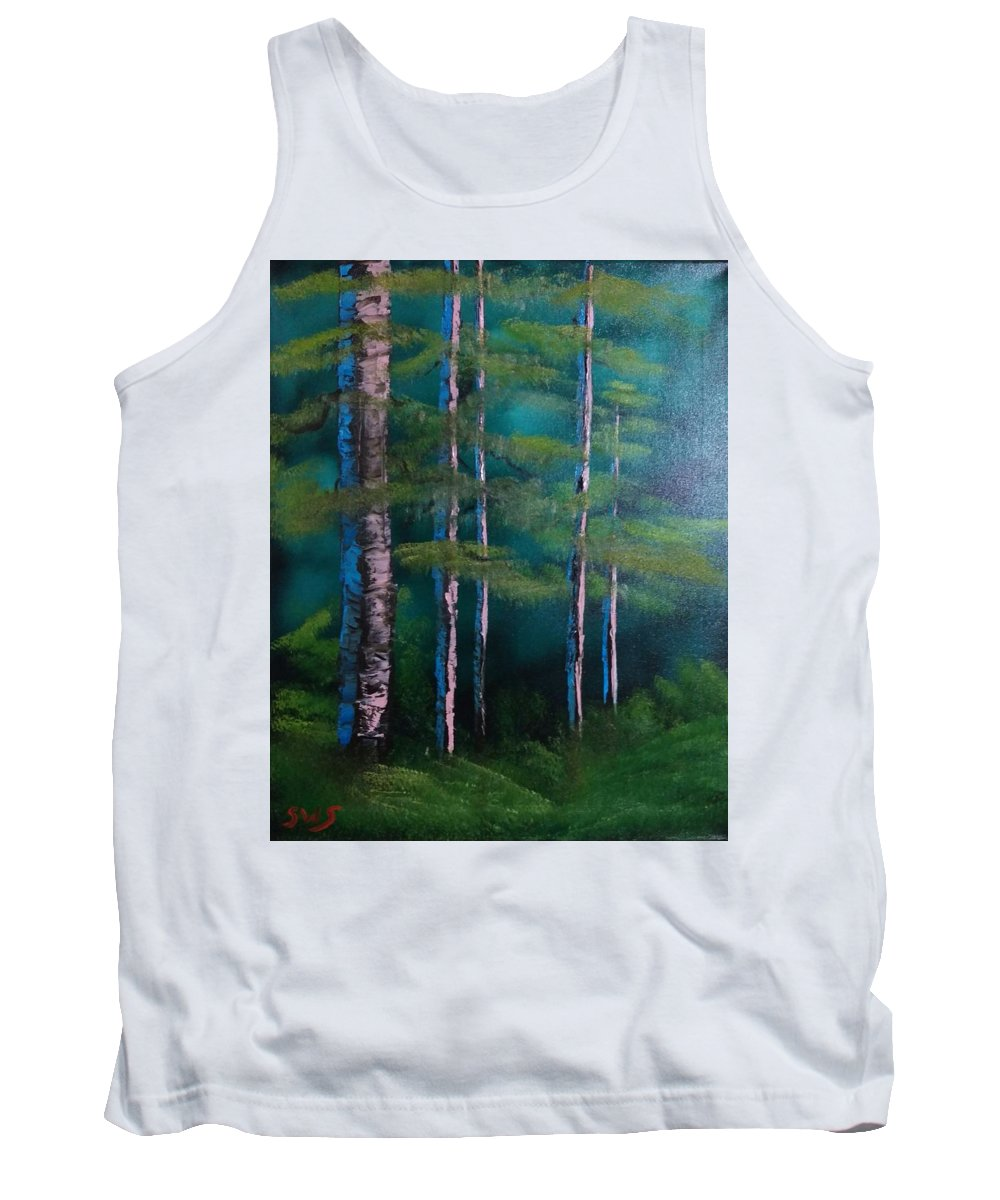 Tank Top featuring the painting Deep Woods by Shane Stephens