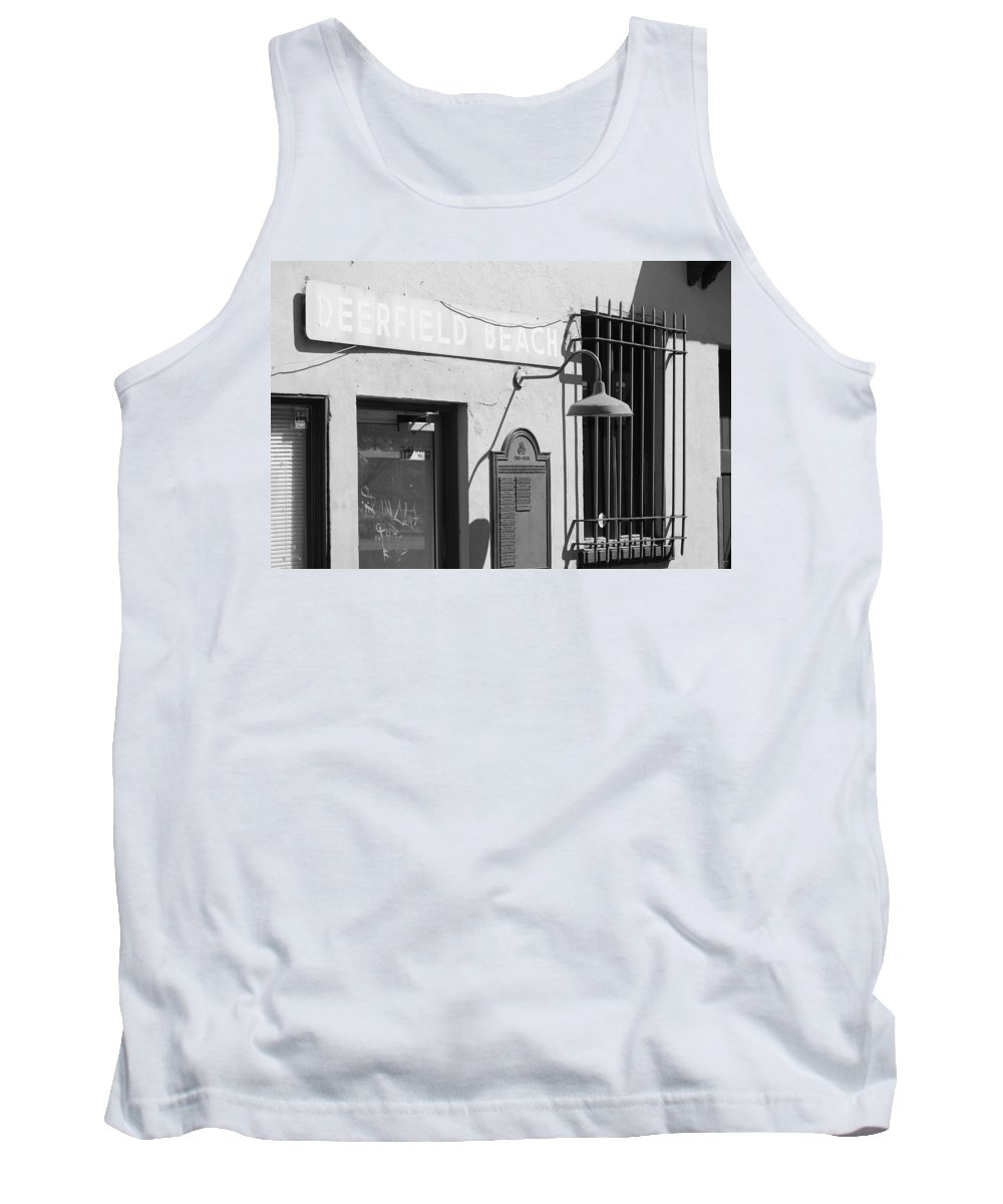 Train Station Tank Top featuring the photograph Deerfield Beach Train Station by Rob Hans