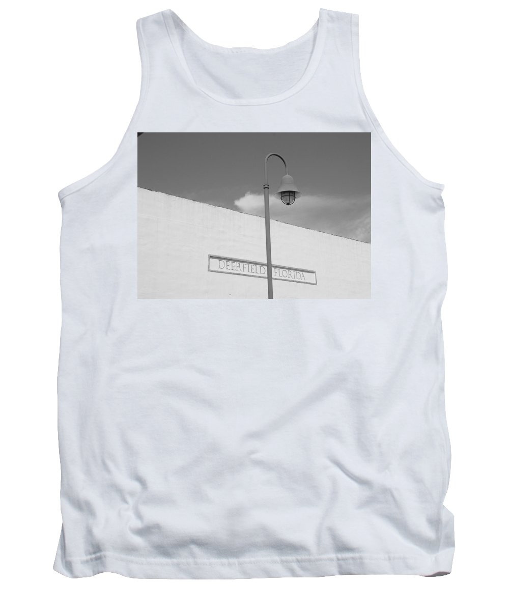 Black And White Tank Top featuring the photograph Deerfield Florida by Rob Hans