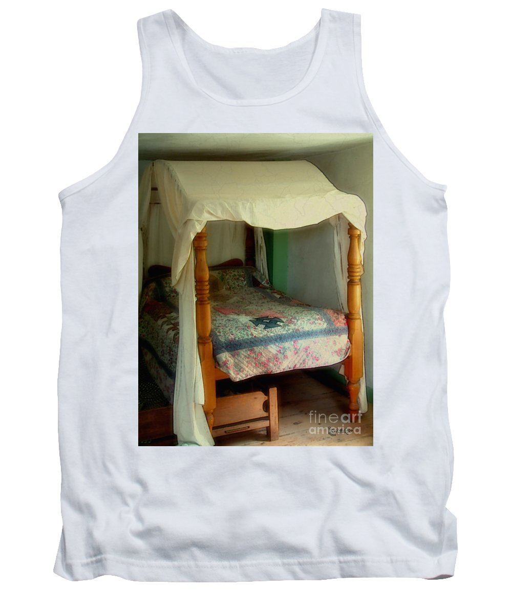 Bed Tank Top featuring the painting Delft Light, New England by RC deWinter