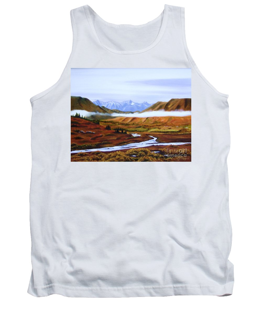 Art Tank Top featuring the painting Denali Autumn by Mary Rogers
