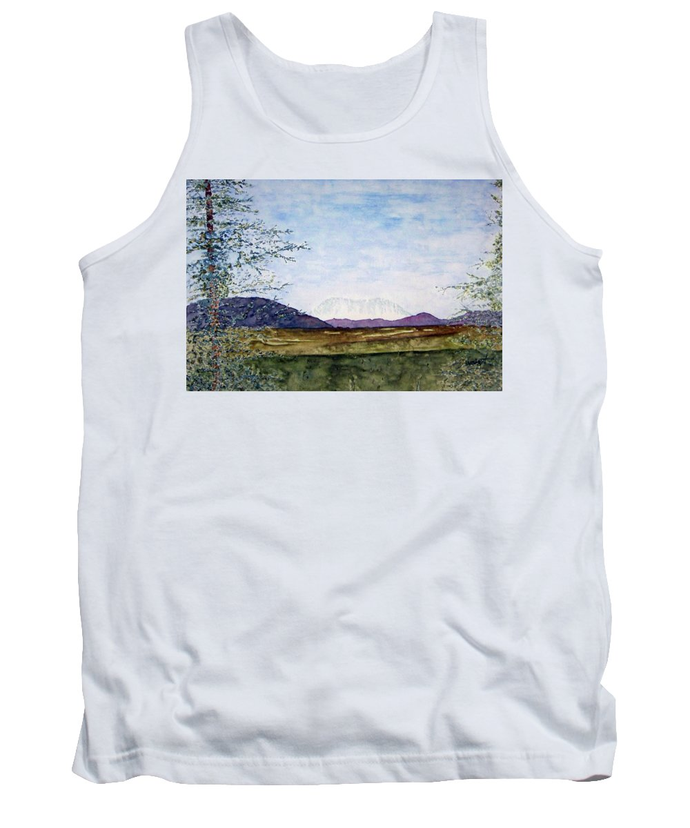 Alaska Art Tank Top featuring the painting Denali In July by Larry Wright