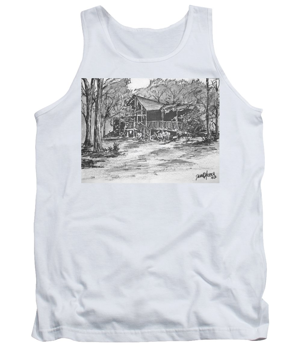 Barn Tank Top featuring the painting Derrick by Derek Mccrea
