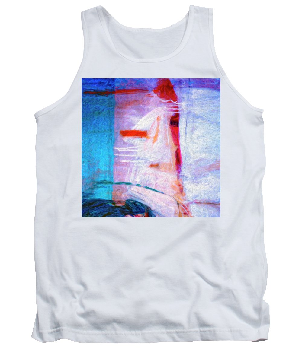 Abstract Tank Top featuring the painting Dervish by Dominic Piperata