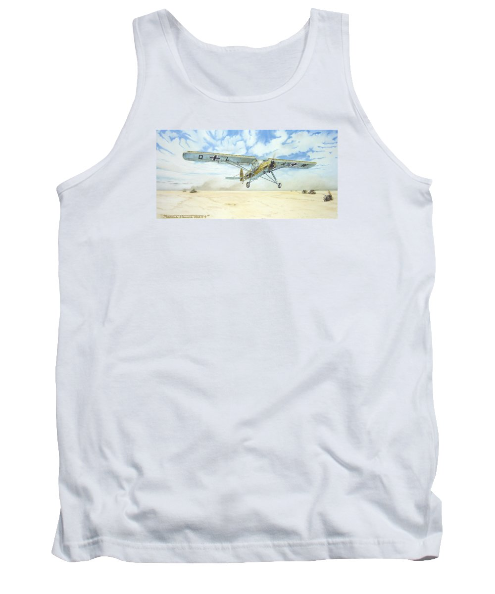 Wwii Tank Top featuring the painting Desert Storch by Marc Stewart