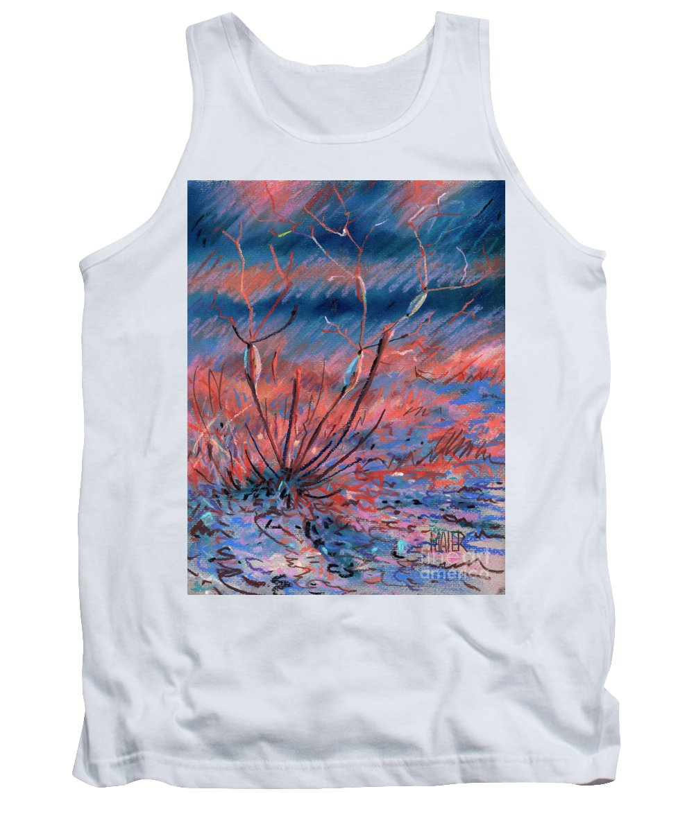 Weed Tank Top featuring the drawing Desert Weed by Donald Maier