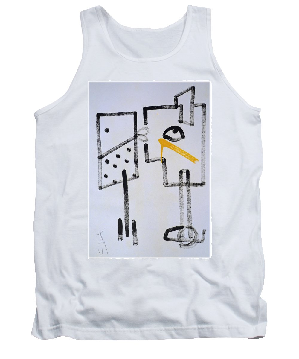 Drawing Tank Top featuring the painting Desperados Waiting For A Train by Charles Stuart