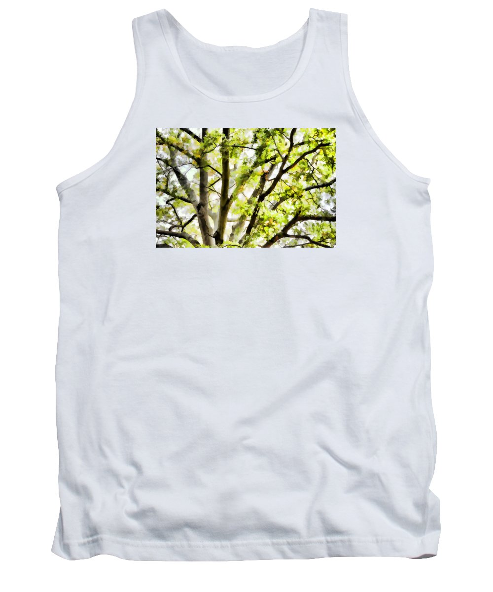 Detailed Tree Branches Tank Top featuring the painting Detailed Tree Branches 3 by Jeelan Clark