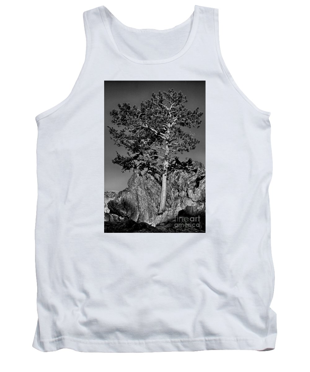 Tank Top featuring the photograph Determined, Monochrome by Sam Stanton