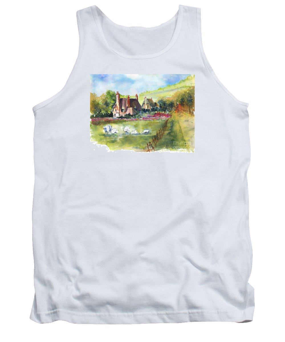 Devonshire Tank Top featuring the painting Devonshire by Alena Kaz